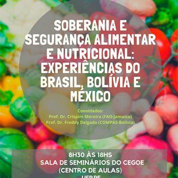 TALLER DE INTERCAMBIO «SOBERANÍA Y SEGURIDAD ALIMENTARIA Y NUTRICIÓN» CONTARÁ CON EXPERIENCIAS DE BRASIL, MÉXICO Y BOLIVIA
