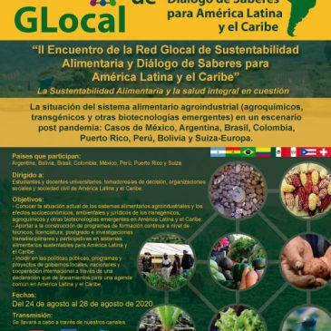 Programa II Encuentro de la Red Glocal de Sustentabilidad Alimentaria y Diálogo de Saberes para América Latina y el Caribe
