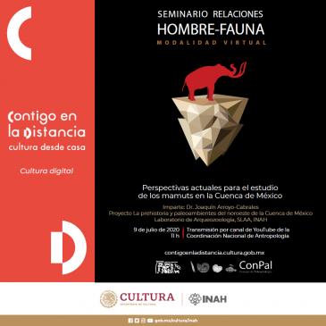 Seminario virtual relaciones Hombre – Fauna «Perspectivas actuales para el estudio de los mamuts en la cuenca de México»